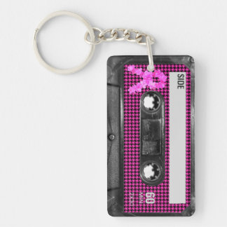 Breast Cancer Awareness Cassette Keychain