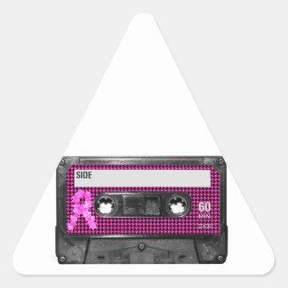 Breast Cancer Awareness Cassette Triangle Sticker