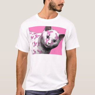 Breast Cancer Awareness Cat T-Shirt