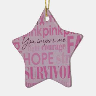 Breast Cancer Awareness Ceramic Ornament