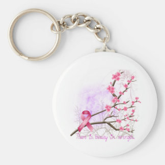 Breast Cancer Awareness Cherry Blossom Keychain