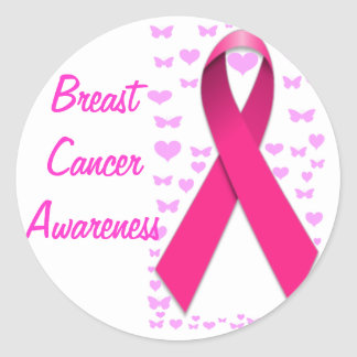 Breast Cancer Awareness_ Classic Round Sticker