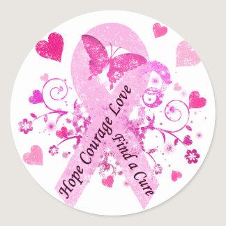 Breast Cancer Awareness Classic Round Sticker