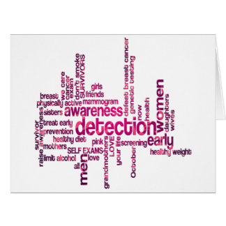 Breast Cancer Awareness Cloud Art Greeting Card