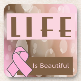 Breast Cancer Awareness Coaster