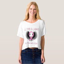 Breast Cancer Awareness Crop Top Shirt Womens