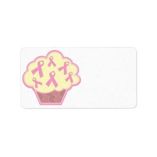 Breast Cancer Awareness Cupcake Personalized Address Labels