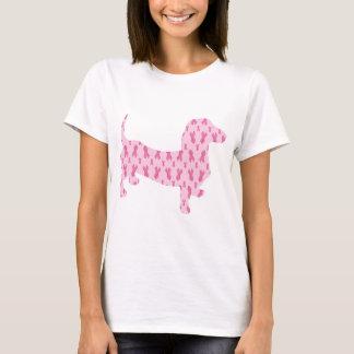 Breast Cancer Awareness Dachshund T-Shirt