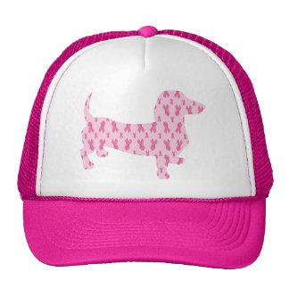 Breast Cancer Awareness Dachshund Trucker Hat