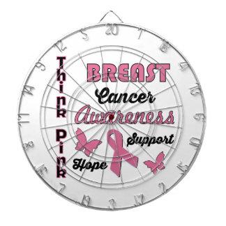 Breast Cancer Awareness Dartboard With Darts