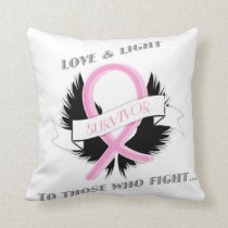 Breast Cancer Awareness Decorative Throw Pillow