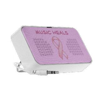 Breast Cancer Awareness Design Doodle - Design you iPod Speakers