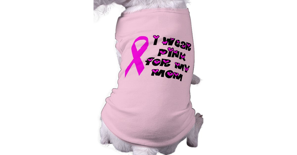 Breast Cancer Awareness Dog Tee Zazzle Com