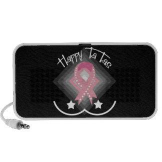 Breast Cancer Awareness Doodle Travel Speakers