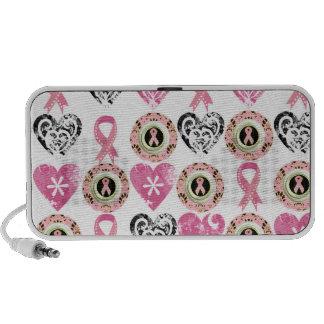 Breast Cancer Awareness Doodle Mp3 Speaker