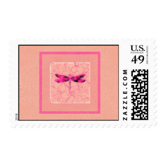 Breast Cancer Awareness Dragonfly Postage