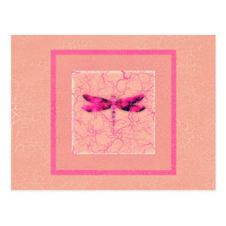 Breast Cancer Awareness Dragonfly Postcard