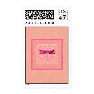 Breast Cancer Awareness Dragonfly Stamp