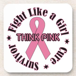 Breast Cancer Awareness Drink Coaster