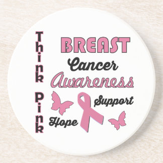 Breast Cancer Awareness Drink Coasters