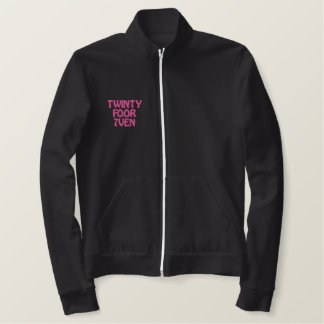 Breast Cancer Awareness Embroidered Jacket
