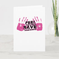 Breast Cancer Awareness Feel For Lumps Card
