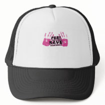 Breast Cancer Awareness Feel For Lumps Trucker Hat