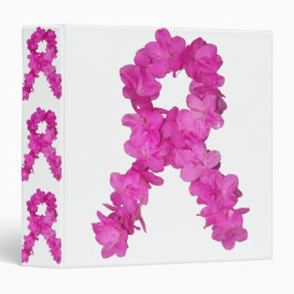 Breast Cancer Awareness Flower Ribbon Binder