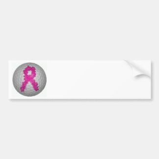 Breast Cancer Awareness Golf Ball Bumper Sticker