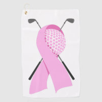 Breast Cancer Awareness Golf Towel