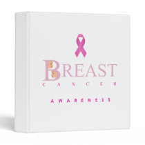 Breast cancer awareness graphic in pink colors binder