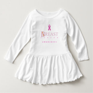 Breast cancer awareness graphic in pink colors dress