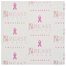 Breast cancer awareness graphic in pink colors fabric