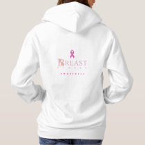 Breast cancer awareness graphic in pink colors hoodie