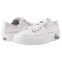 Breast cancer awareness graphic in pink colors Low-Top sneakers