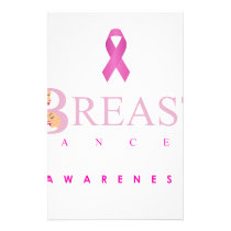 Breast cancer awareness graphic in pink colors stationery