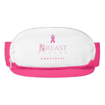 Breast cancer awareness graphic in pink colors visor