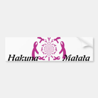 Breast Cancer Awareness Hakuna Matata Ribbon Bumper Sticker
