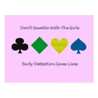 Breast Cancer Awareness/heart/diamond/club/spade Postcard