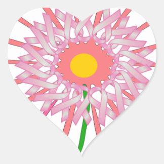 Breast Cancer Awareness Heart Sticker