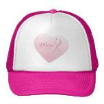 Breast Cancer Awareness Heart Trucker Hat