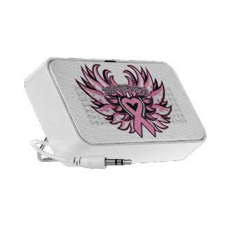 Breast Cancer Awareness Heart Wings Mp3 Speaker