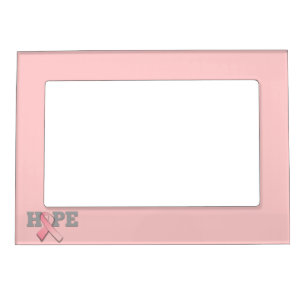 Cancer Awareness Pink Ribbon Magnetic Picture Frames Zazzle