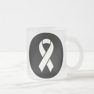 Breast Cancer Awareness Ideology Frosted Glass Coffee Mug