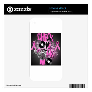 Breast Cancer Awareness iPhone 4S Decals