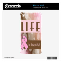 Breast Cancer Awareness iPhone 4S Skins