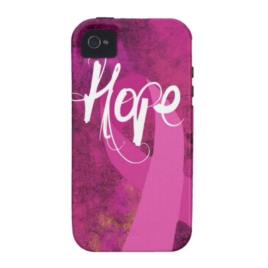 Breast Cancer Awareness iphone case: Hope Vibe iPhone 4 Case