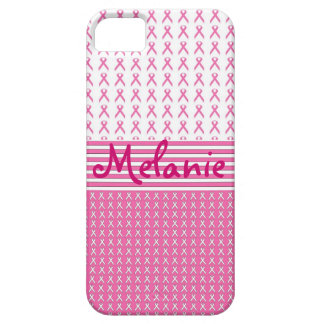Breast Cancer Awareness iPhone Monogram Pink iPhone 5 Cases