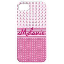 Breast Cancer Awareness iPhone Monogram Pink iPhone SE/5/5s Case