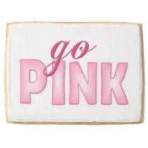 Breast Cancer Awareness Jumbo Shortbread Cookie